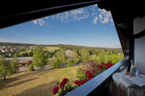 Aussicht auf idyllische Natur im Schwarzwald - Hotel Konradshof