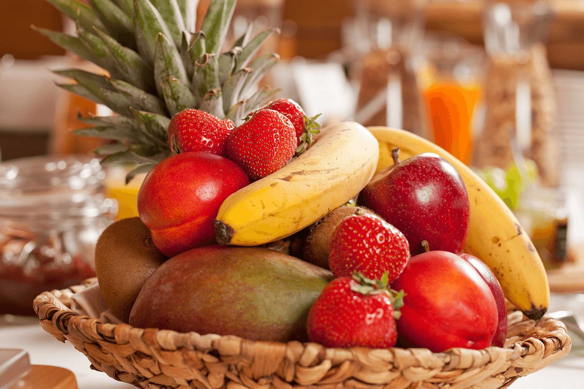 Obstkorb am Frühstücksbuffet- Hotel Konradshof